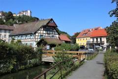 Historiche Fachwerkhäußer an der Trubach in Egloffstein
